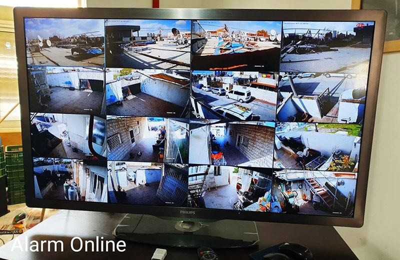 מוניטור מצלמות אבטחה בבית